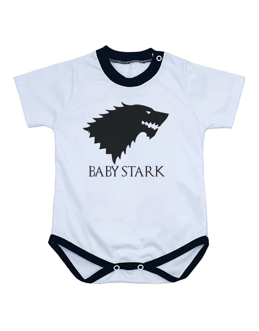 Body Bebê Game Of Thrones Baby Stark Manga Curta popup