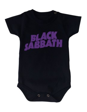 Body Black Sabbath Manga Curta Preto