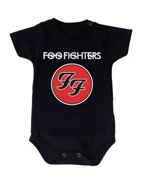 Body Foo fighters Manga Curta Preto