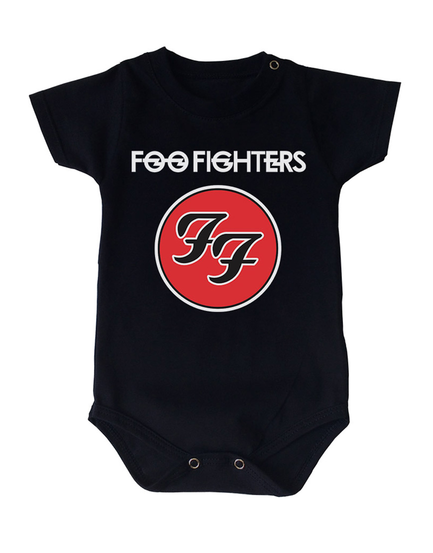 Body Foo fighters Manga Curta Preto popup