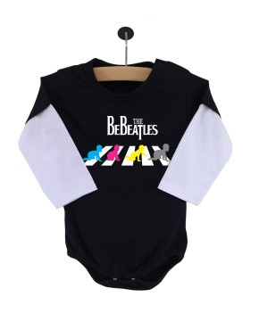 Body Be Beatles Manga Longa Preto