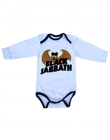 Body Black Sabbath Manga Longa Branco