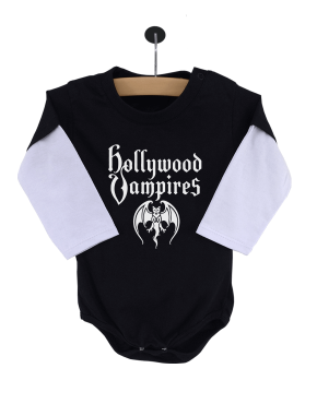 Body Bebê Hollywood Vampires Manga Longa Preto