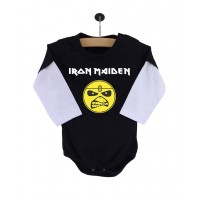 Body Iron Maiden Manga Longa Preto