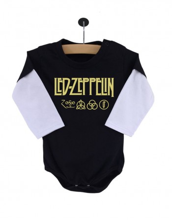Body Led Zeppelin Manga Longa Preto