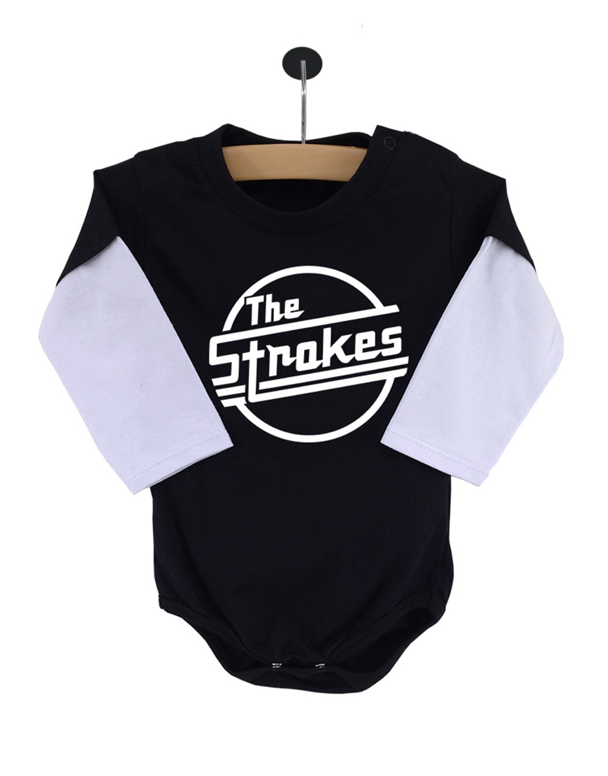 Body The Strokes Manga Longa Preto popup