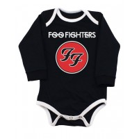 Body Foo fighters Manga Longa Preto