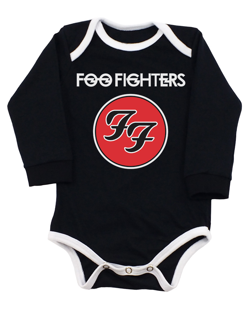 Body Foo fighters Manga Longa Preto popup