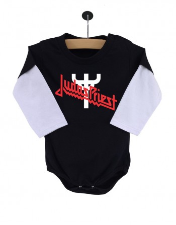 Body Judas Priest Manga Longa Preto