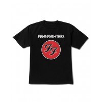 Camiseta Infantil Foo Fighters Manga Curta Preta