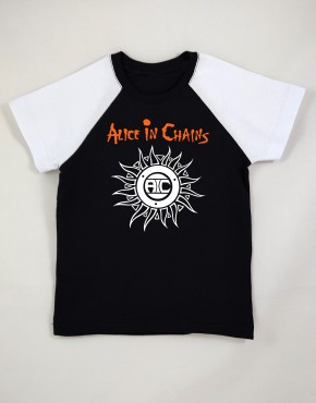 Camiseta Raglan Infantil Alice In Chains