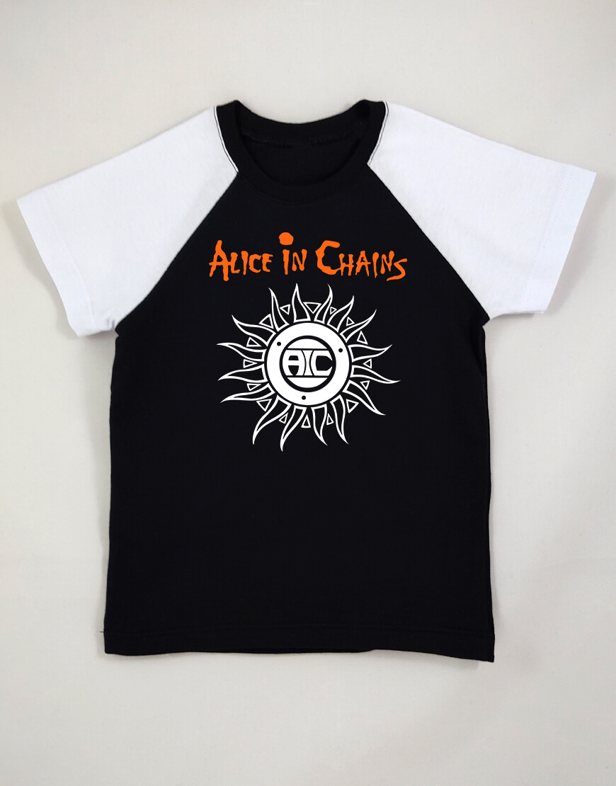 Camiseta Raglan Infantil Alice In Chains popup